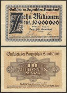 BAVARIAN · GERMANY - 10 million mark 1923 P# S935 Bayerischen Staatsbank München - España - BAVARIAN · GERMANY - 10 million mark 1923 P# S935 Bayerischen Staatsbank München - España