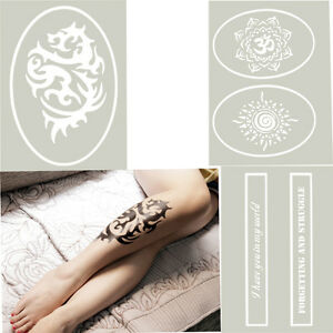 OPHIR-A4-Reusable-Airbrush-Glitter-Temporary-Tattoo-Stencil-Painting-Template