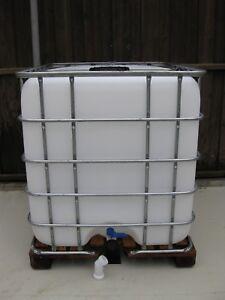 Gartenbewässer<wbr/>ung Regenwasserbeh<wbr/>älter Tank Box 1000 L gebraucht & gereinigt