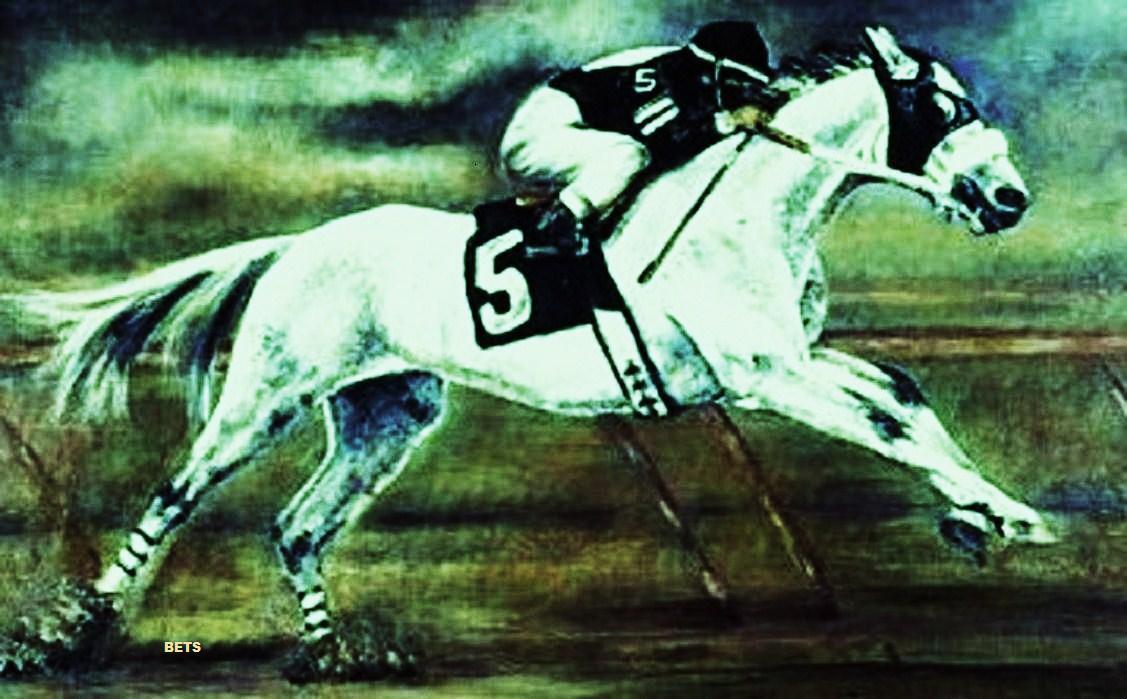 GICLEE HORSE PRINT RACE Art RACEHORSE artist BETS 6 COLORS print size 14 X 20