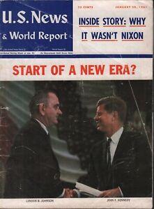 US News & World Report January 30 1961 John F Kennedy Lydon B Johnson 071519AME