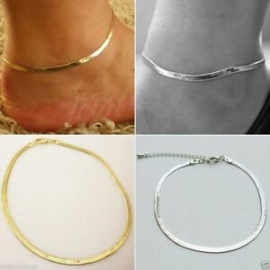Elegant Armband Fußkette Legierung Silber Gold Fußkettchen 28 Cm Gute QualitäT