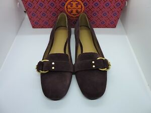 6e64db0f8fc NIB  258 TORY BURCH MARSDEN SMOKING SLIPPER SUEDE LOGO MALBEC LOAFER ...