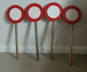 Vintage-French-Police-hand-held-wooden-stop-signs