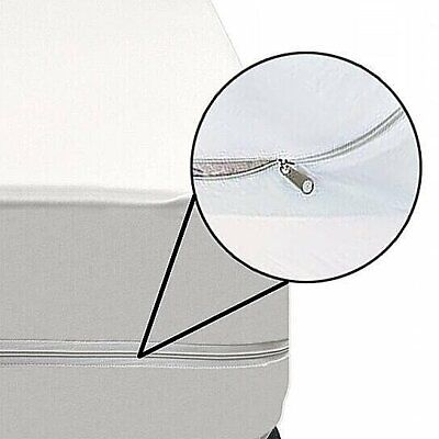 """16/"""" Hypoallergenic Bed Bug/& Waterproof Zippered Vinyl Mattress Cover Protector"""