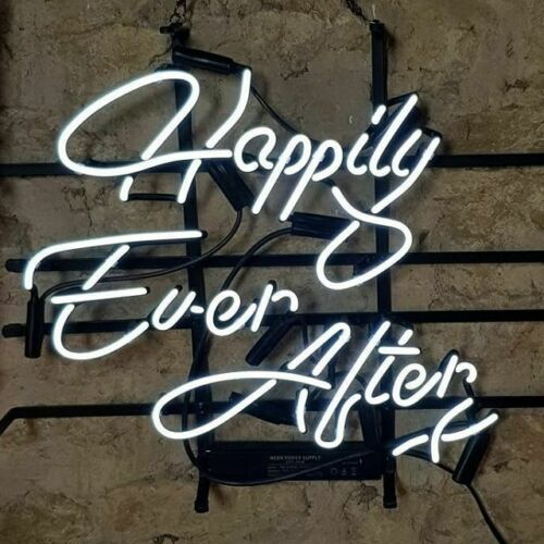 """New Happily Ever After Party Cub Decor Artwork Neon Light Sign 17/""""x17/"""""""