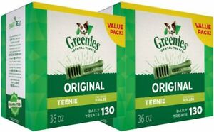 Greenies Original Dental Dog Treats 36 oz, 2-PACK (PICK SIZE) NEW!!