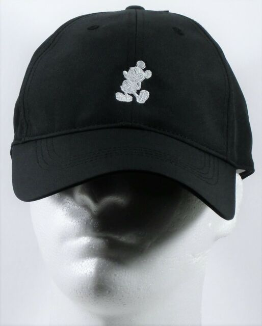 disney parks mickey black nike dri fit baseball golf cap hat ebay