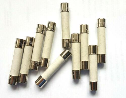 "Fuse 10a 32mm Ceramic F10a 250v F10a H 250v HBC Fast Quick Blow x10pcs 1.25/"""