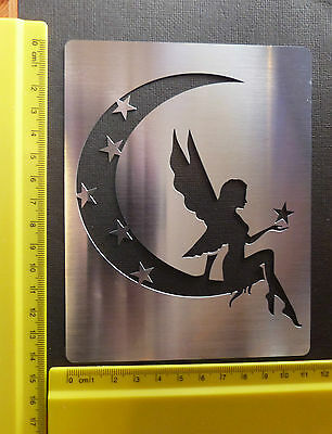 Large/Stainless/Steel/stencil/Oblong/Fairy/Moon/Star/Astral/Emboss/FAULTY
