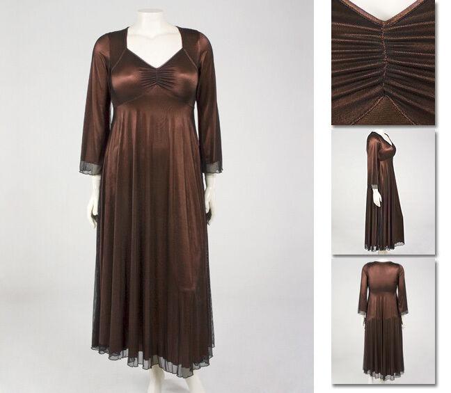 NEW Zaftique MESH GOWN Dress COFFEE Brown 0Z 1Z 2Z 3Z 14 16 L XL 1X 2X 3X 4X 5X
