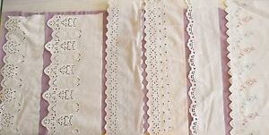 Exquisite-Cotton-EYELET-Embroidered-Trim-white-natural-4-1-2-to-15-034-w-FREE-SHIP