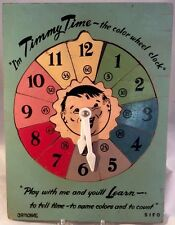 Timmy Time The Color Wheel Wooden Puzzle GR Noble SIFO Vtg Play And Learn 1950s