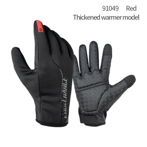 Mens Women Winter Warm Gloves Full Finger Mountain Bike Bicycle Cycling Gloves