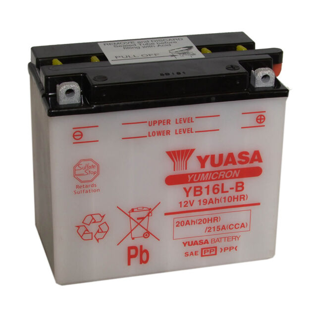 Bike Battery YUASA YB16L-B 12V 19ah 215A 175X100X155MM ACID