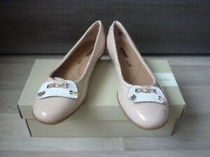 Clarks-clasico-bailarina-gracelin-Blu-nuevo-amp-carton-tamano-40