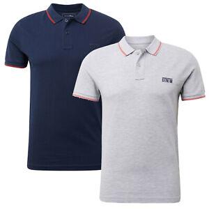 TOM TAILOR Denim Herren Strukturiertes Poloshirt Kurzarmshirt Business Basic