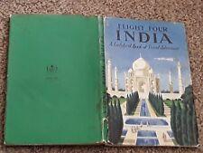 VINTAGE LADYBIRD BOOK FLIGHT FOUR INDIA  587 + DJ