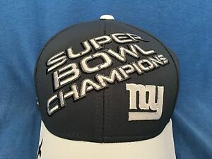 Details about NY GIANTS Super Bowl XLVI Champions Cap NFL Football Hat Eli  Manning Tom Brady 5e497861340