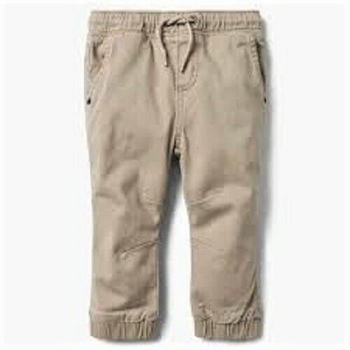 115 NWT Gymboree Baby Toddler Boys Beige Jeans w// Elastic Waist