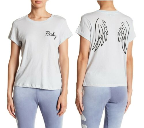 Wildfox Couture Women Angel Baby Wing Vintage Blue T-SHIRT Tee Top XS S M L
