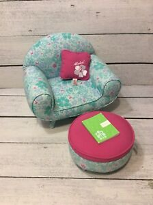 Enjoyable Details About American Girl Doll Kananis Floral Lounge Chair Ottoman Aloha Cushion Diary Squirreltailoven Fun Painted Chair Ideas Images Squirreltailovenorg