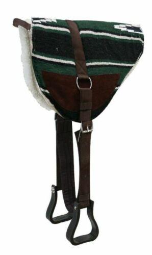 Showman Navajo Print Bareback Saddle Pad w// Fleece Bottom