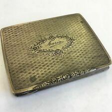 Antique Solid Silver Hallmarked Italian Pill / Snuff Box Decorative 7.5cm Maria
