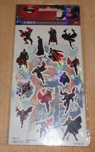 60-Assorted-DC-Comics-Superman-Man-of-Steel-Holographic-amp-Regular-Stickers