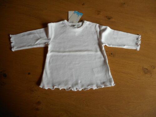 *Feetje*weißes Langarmshirt// Pullover*Rüschen** 100/% Baumwolle* Neu*