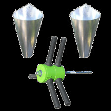 Chicken Plucker Feather Remover + TWO Medium Killing Restraining Cones Poultry