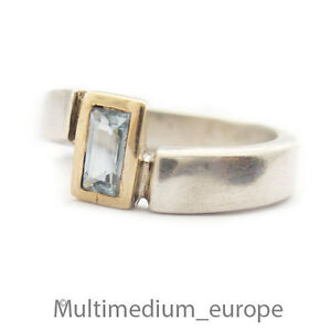 Silber-Ring-blau-Topas-vergoldet-sterling-silver-gilt-ring-blue-topaz