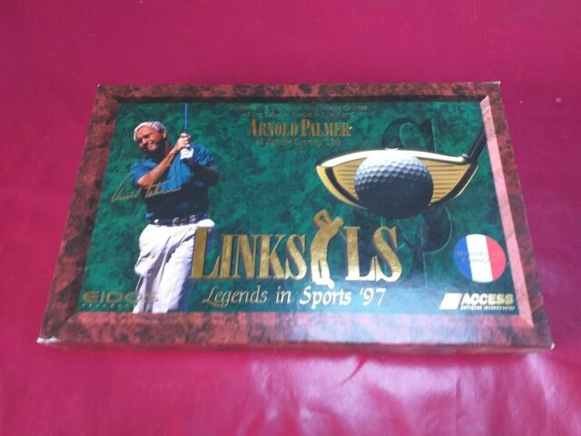 Links LS 1998 edition Golf PC Big Box boite carton FR us gold limited