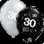 25-Noir-Argente-Age-30-Ans-Anniversaire-Ballons-en-Latex-Fete-Helium-Air miniature 1