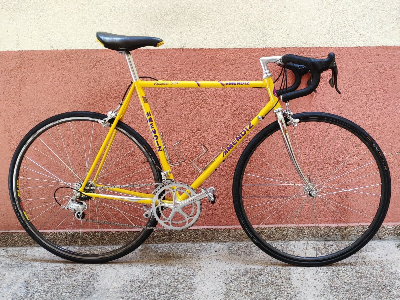 Nearly-New Mendiz SLX road bike with Titanium Campagnolo Record 9sp groupset