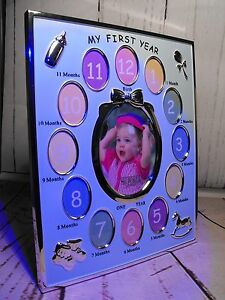 Image Is Loading BABY BOYS FIRST YEAR PHOTO FRAME GIFT BLUE
