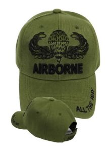 2c3172a3f7728 US Army Airborne ALL THE WAY Ball Cap Ranger 82nd 173rd 101st Jump ...
