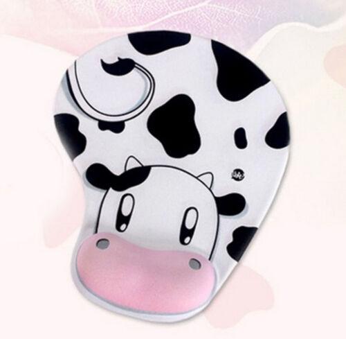 Wrist Mat MousePad Cat Cow Cartoon with  New Gift Wrist Rest Optical Trackball