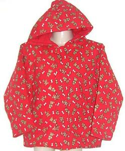 Girls-red-PADDED-hoodie-jumper-jacket-sz-1-NEW-bnwt