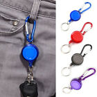 Retractable New Plastic Carabiner Key Ring 25mm Fancy Badge Key Chain