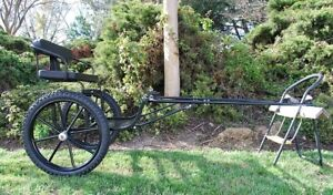 """EZ Entry Mini Horse Cart w/""""C"""" Springs w/48""""-55"""" Shafts w/21"""" Motorcycle Tires"""