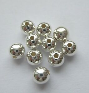 4 mm Solid Sterling Silver 925 Seamless Round Ball Spacer 10 - 300 pc