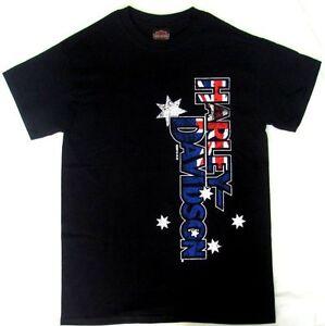 HARLEY DAVIDSON HD AUSTRALIAN FLAG PRIDE AUSSIE T-SHIRT SHORT SLEEVE SHIRT MENS
