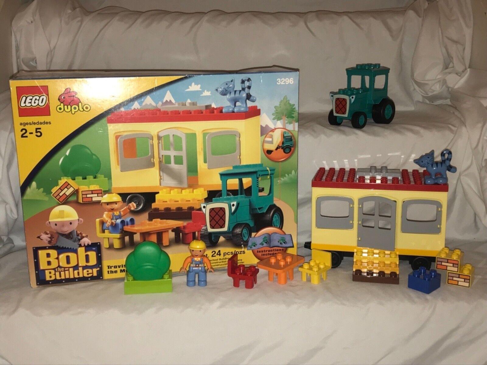 Lego duplo  Bob le Bricoleur Travis et le mobile voitureavane (3296) 2005 complet  vente au rabais