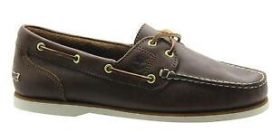 mujer marrón zapatos cuero de 2 Amherst Eye para Timberland 72331 Classic barco de D119 wqPI88