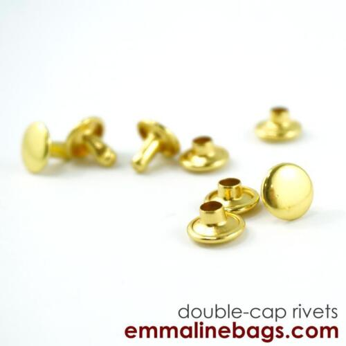 for bags /& crafts range of finishes DOUBLE CAP RIVETS Medium Emmaline Bags