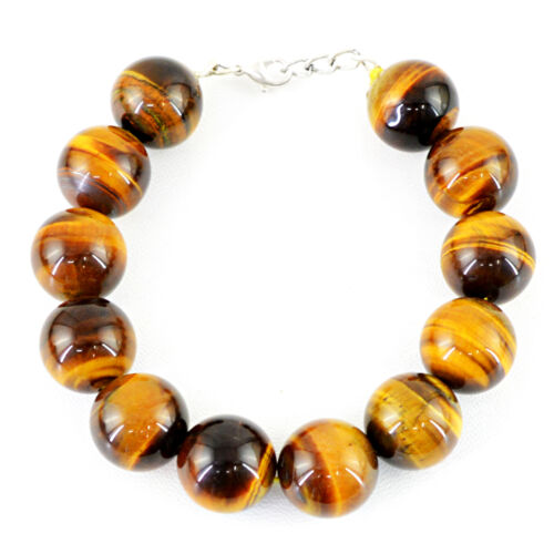 BEST AAA QUALITY 539.00 CTS NATURAL RICH GOLDEN TIGER EYE ROUND BEADS BRACELET