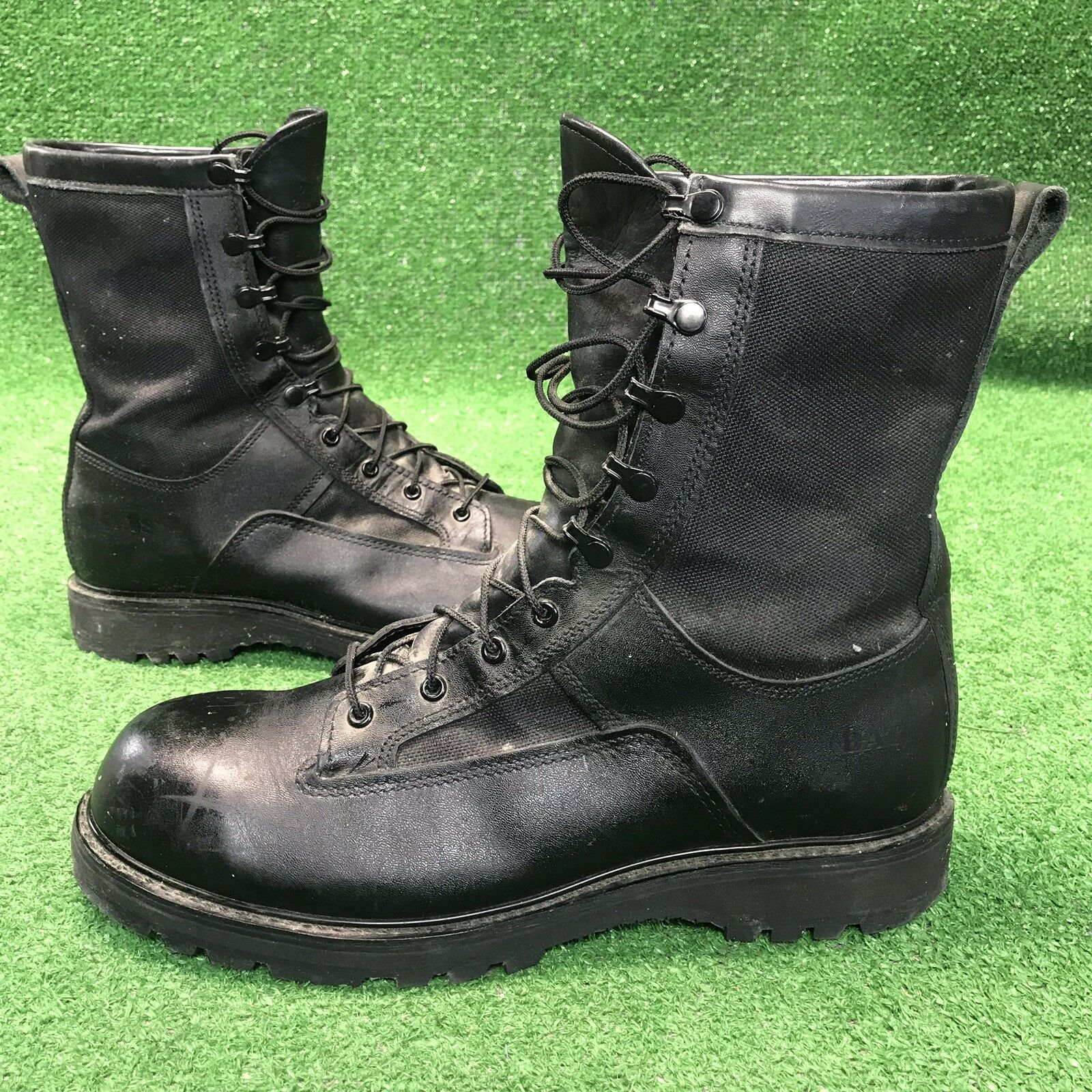 BATES Gore Tex Vibram Tall Leather Work Military Hiking Combat Boots Men's 13 R