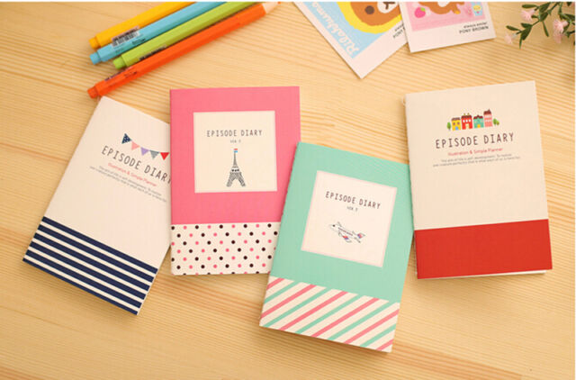 Cartoon Little Notepad Memo Paper Diary Notebook Exercise Book Stationery Gift
