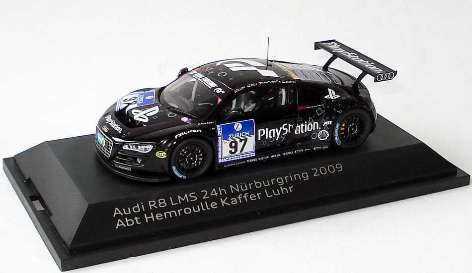 1:43 AUDI R8 LMS 24 H nürnburgring 2009 PLAYSTATION 97 Luhr ABT hemroulle Kaffer